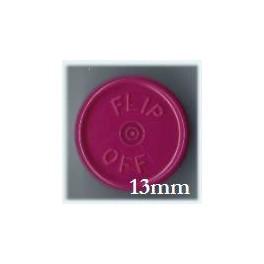 13mm Flip Off Vial Seals, Burgundy, Pack of 100