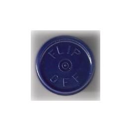 20mm Blue Flip-Off Cap 100, Bag Flip-Off