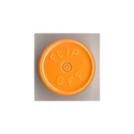20mm Flip Off Vial Seals, Faded Light Orange, Pack of 100