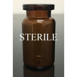 6mL Amber Sterile Open Vials (5mL shorty), Depyrogenated, Ream of 219