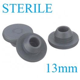 13mm Vial Stopper, Round Bottom, Irradiated, Bag of 1,000