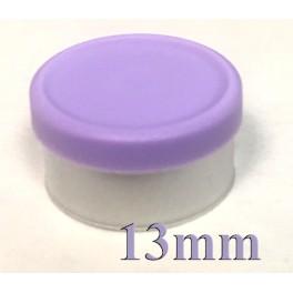 13mm West Matte Flip Cap Vial Seals, Lavender, Bag 1000