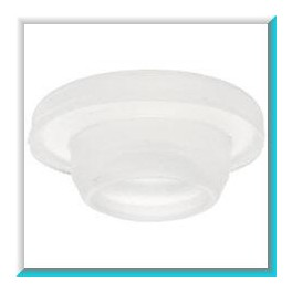 20mm Vial Stopper, Solid Silicone, Bag 1000